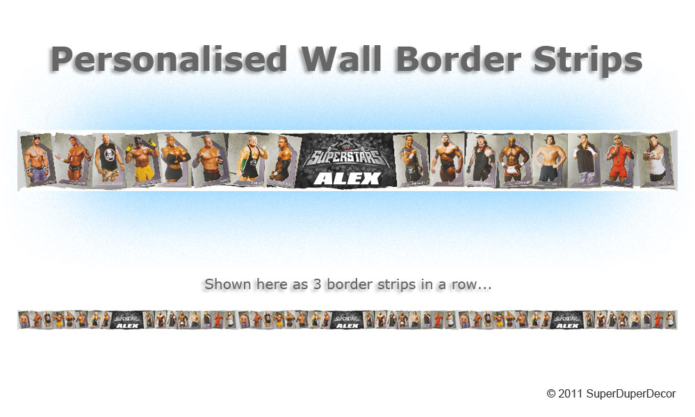 Details about WWE SUPERSTARS BEDROOM WALL wallpaper BORDER raw ecw