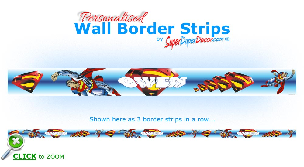 ... WALL BORDER STRIPS children boys bedroom wallpaper borders