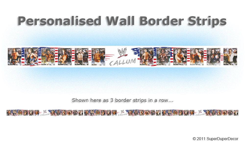 Details about WWE 2011 bedroom wall BORDER STRIPS wallpaper raw ecw  bedroom  wall borders 2017. Bedroom Wallpaper Border